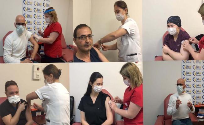 Düzce Özel Çağsu Hastanesi Çalışanlarına Aşılama Yapıldı