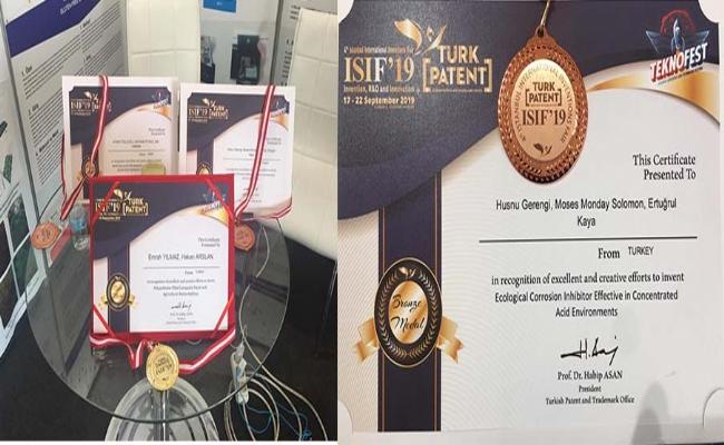 Uluslararası Fuarda  3 Madalya Kazanarak Adından Söz Ettirdi