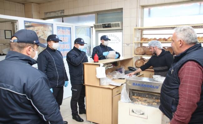 Zabıtadan Bakkal, Fırın, Market ve Ekmek Büfelerine 'Korona virüs' Denetimi